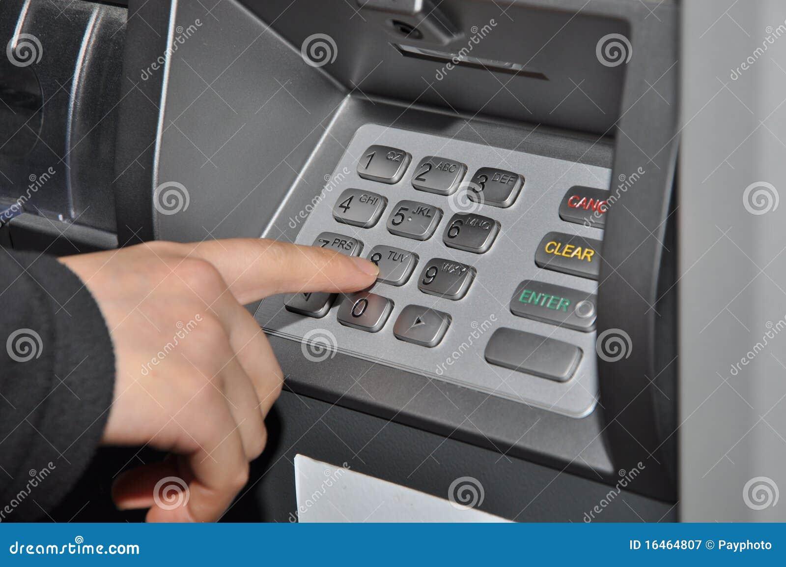 De machine van de close-up ATM