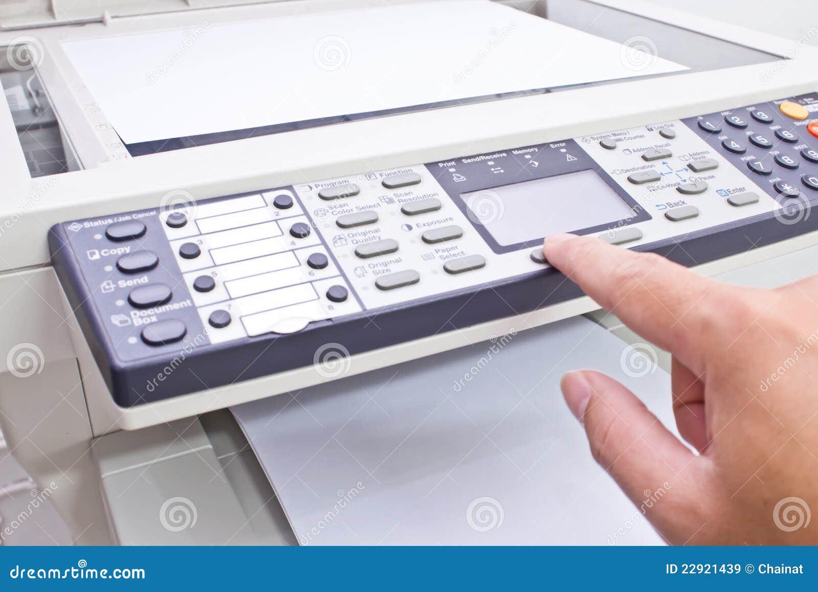 De machine van de fotokopie