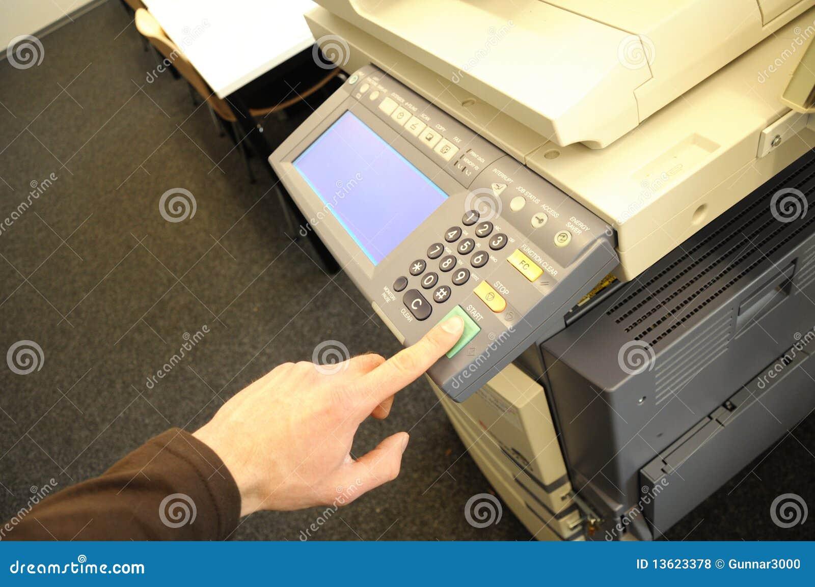 De machine van het exemplaar