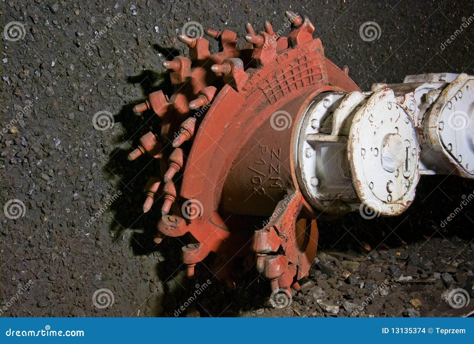 De machineclose-up van de mijnbouw