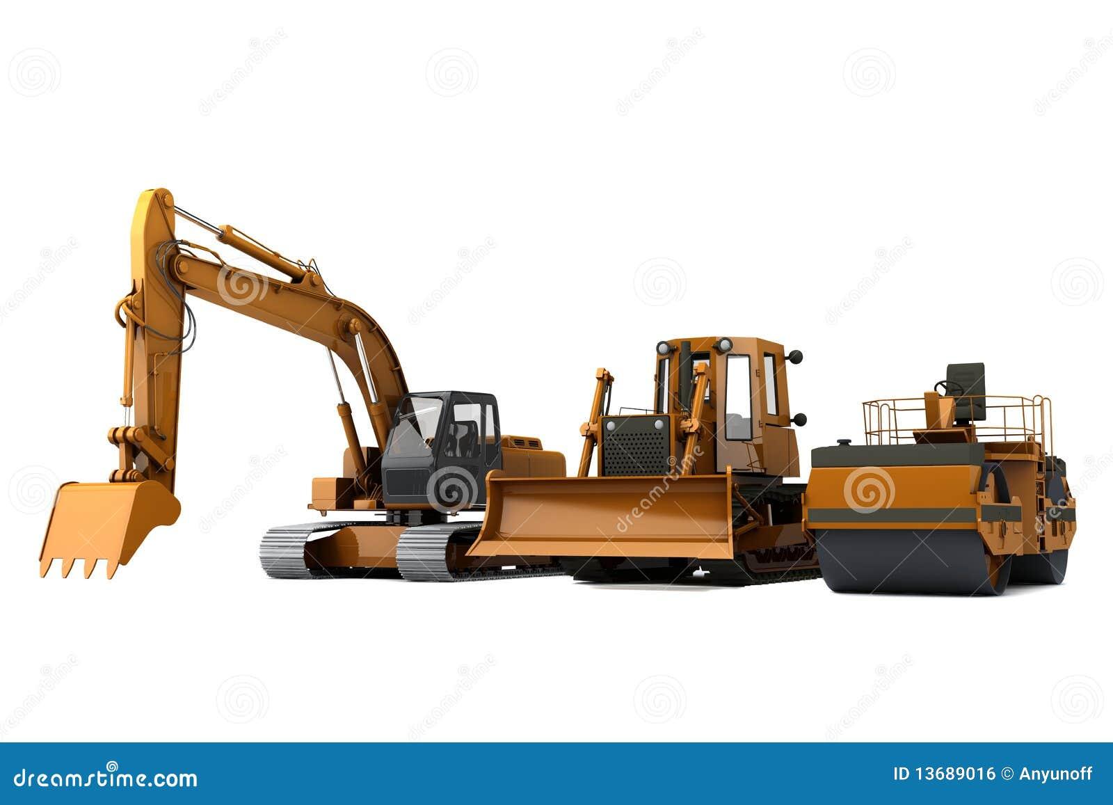 De machines van de weg