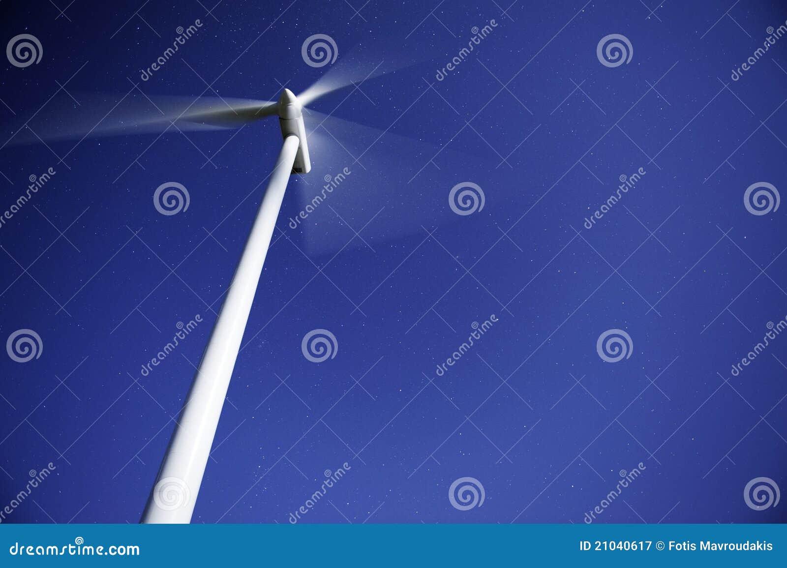 De machtsgenerator van de wind