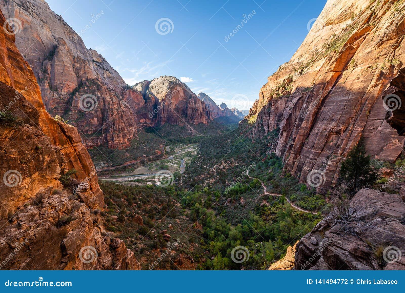 De majesteit van Zion National Park