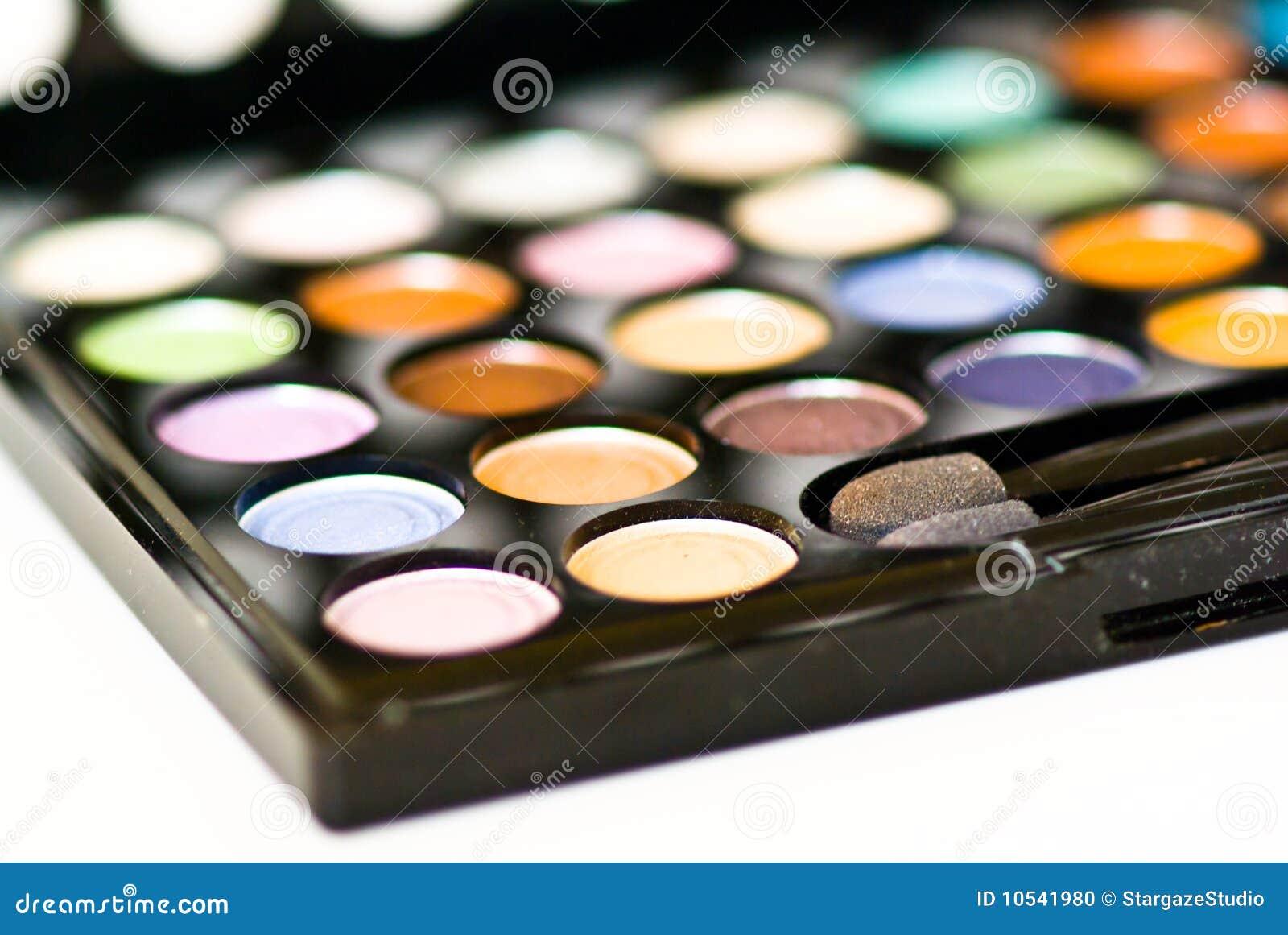 De make-up van het oog