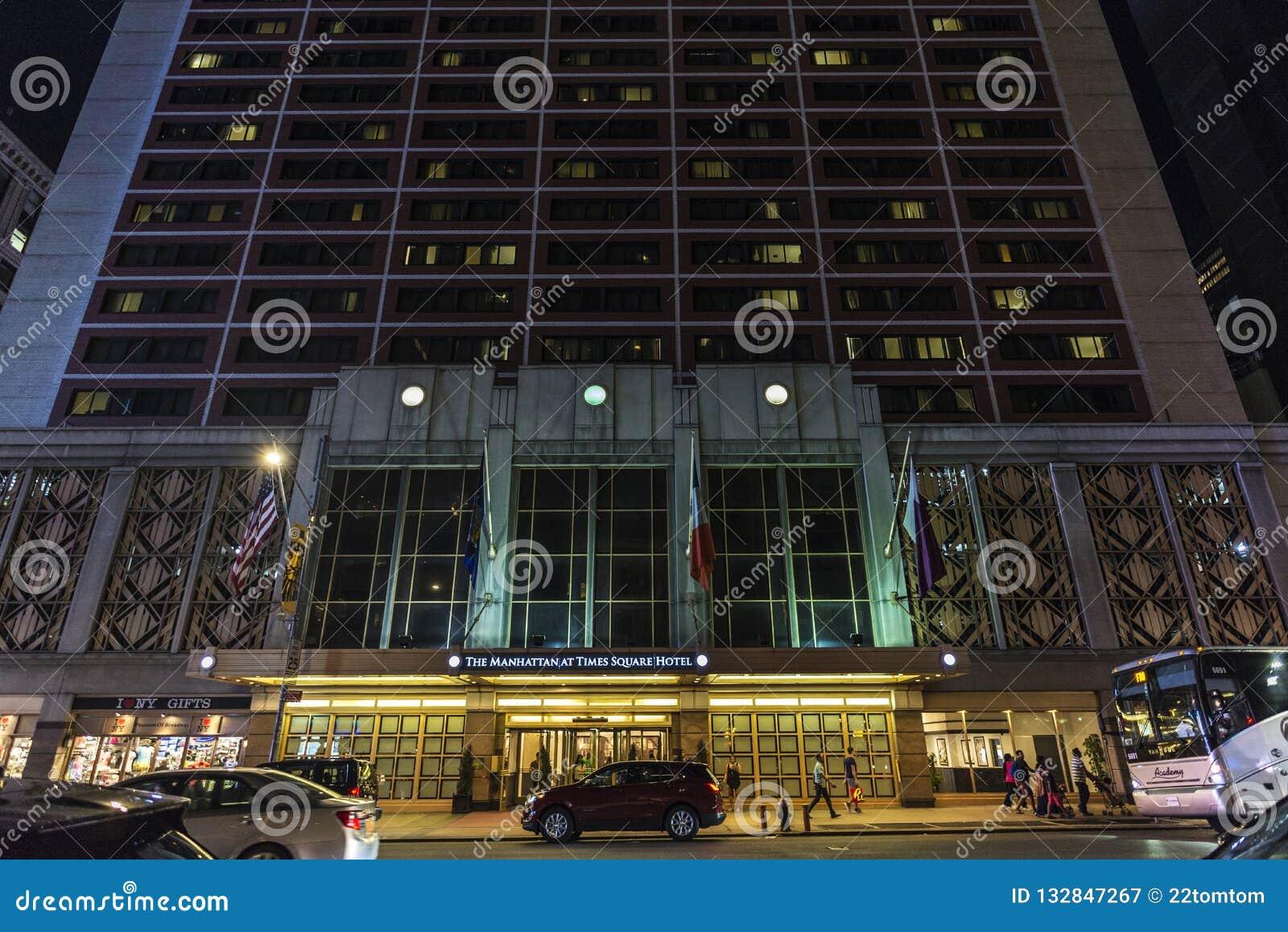 De Manhattan o hotel quadrado às vezes em New York City, EUA