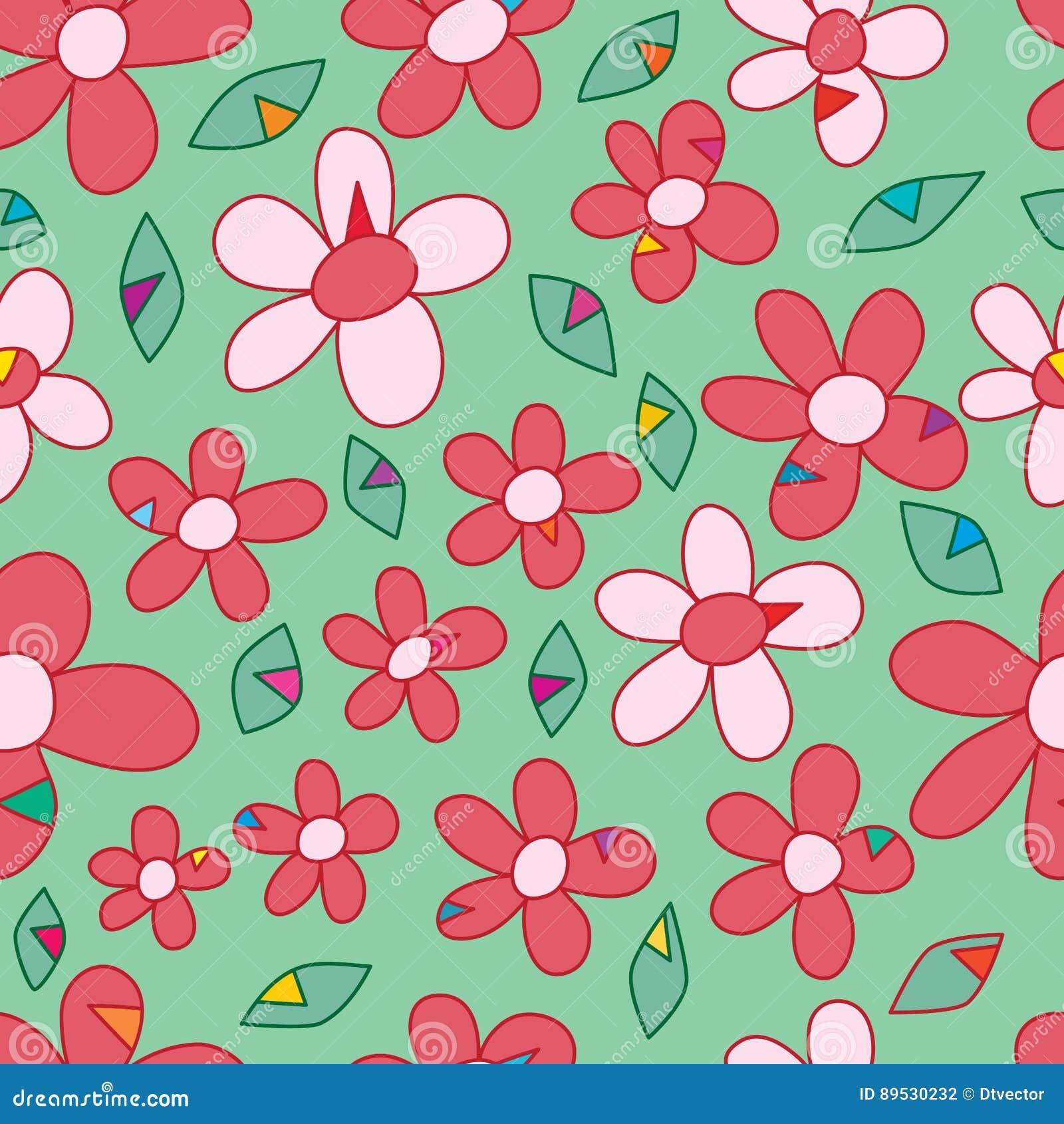 De manier naadloos patroon van de bloemdriehoek