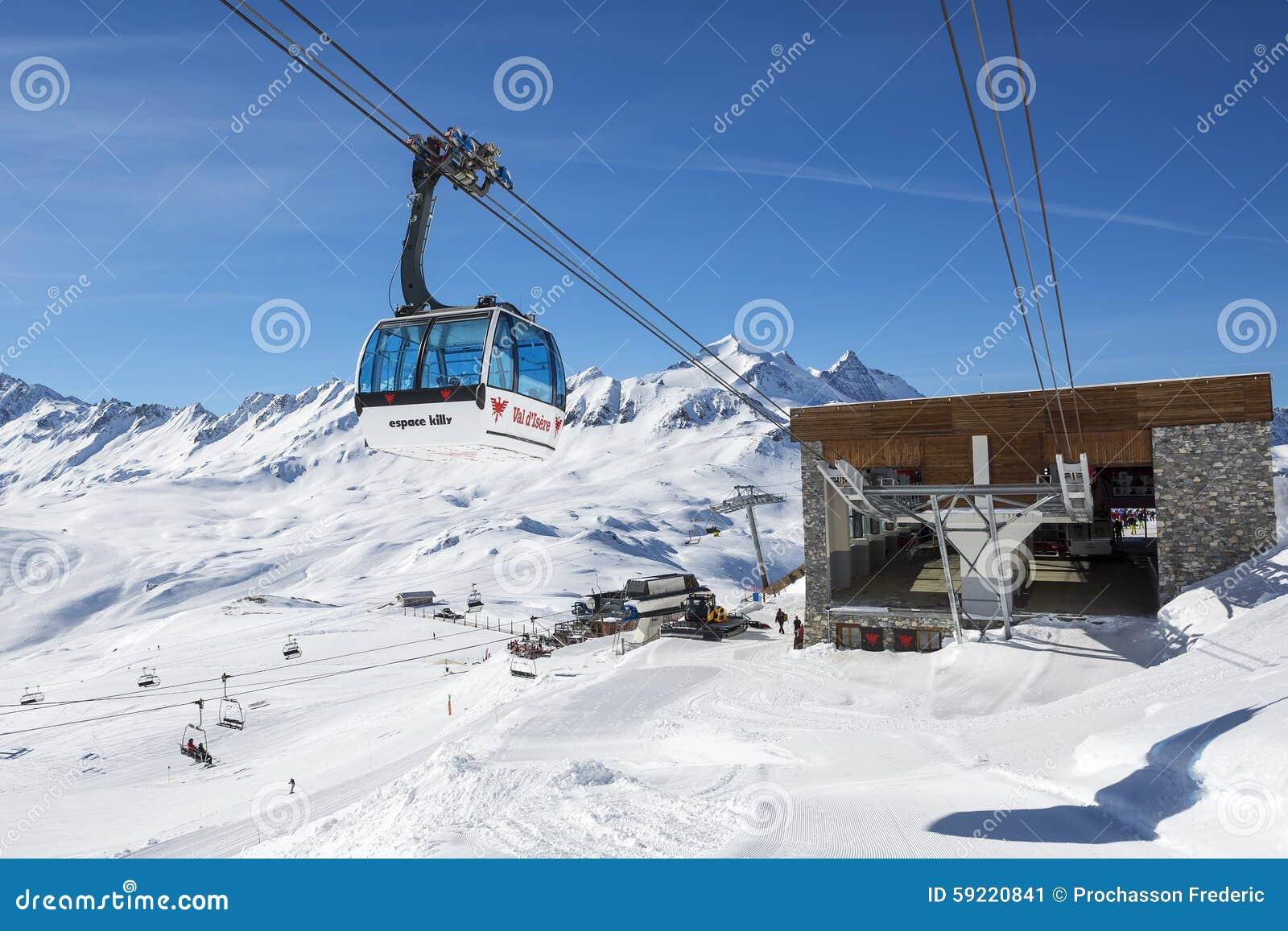 De manier van de Val d Isere kabel
