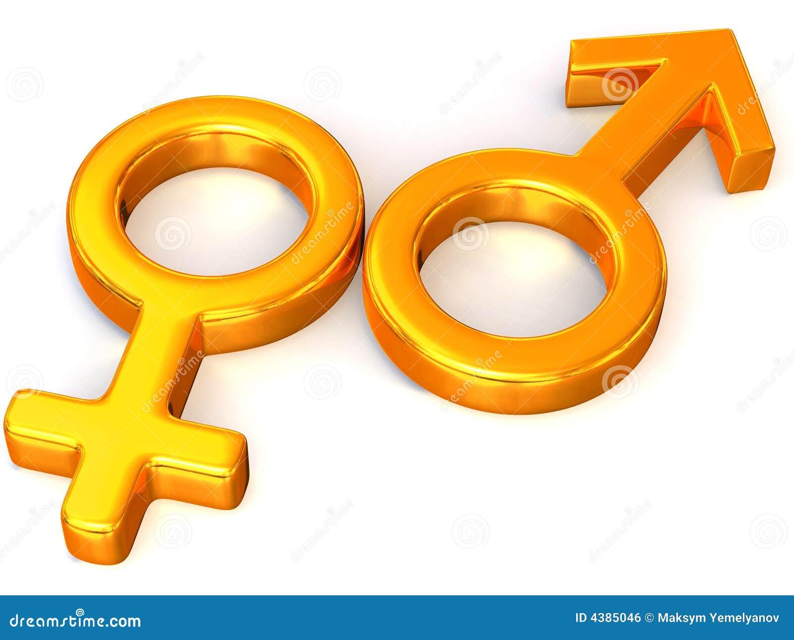 De Mannen en de Vrouwen van het symbool. Liefde.