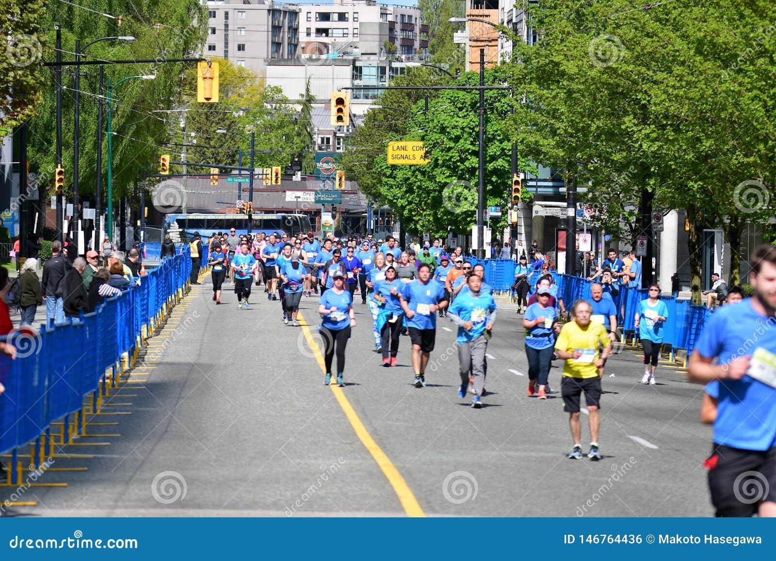 De marathon 5 Mei 2019 van Vancouver