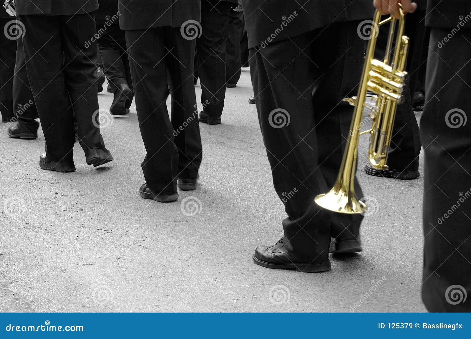 De marcherende Trompetter van de Band