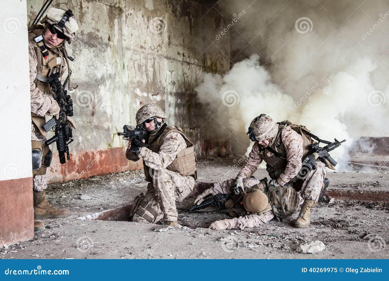 De marine van de V.S. in actie