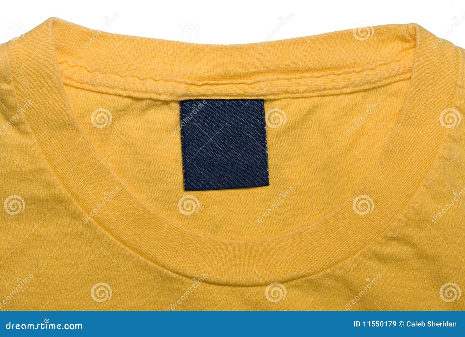 Geel Overhemd.De Markering Van De Kleding Van Geel Overhemd Stock Afbeelding