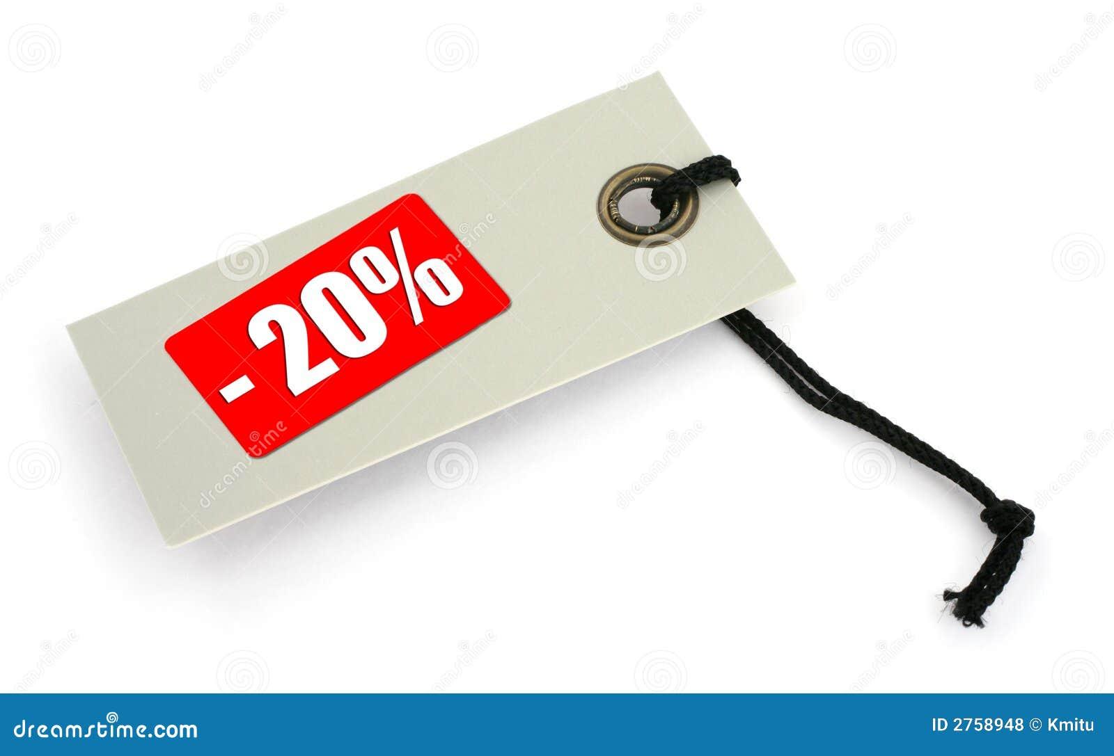 De markering van de verkoop #2