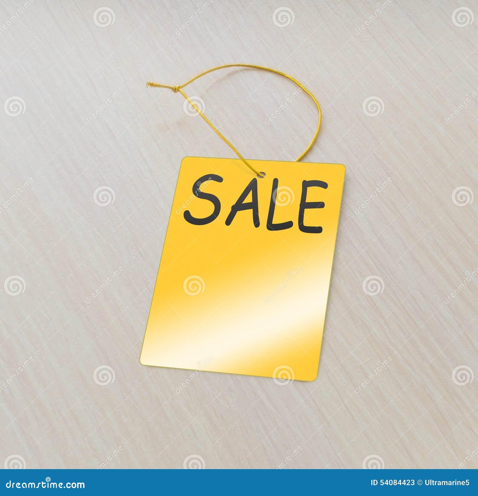 De markering van de verkoop