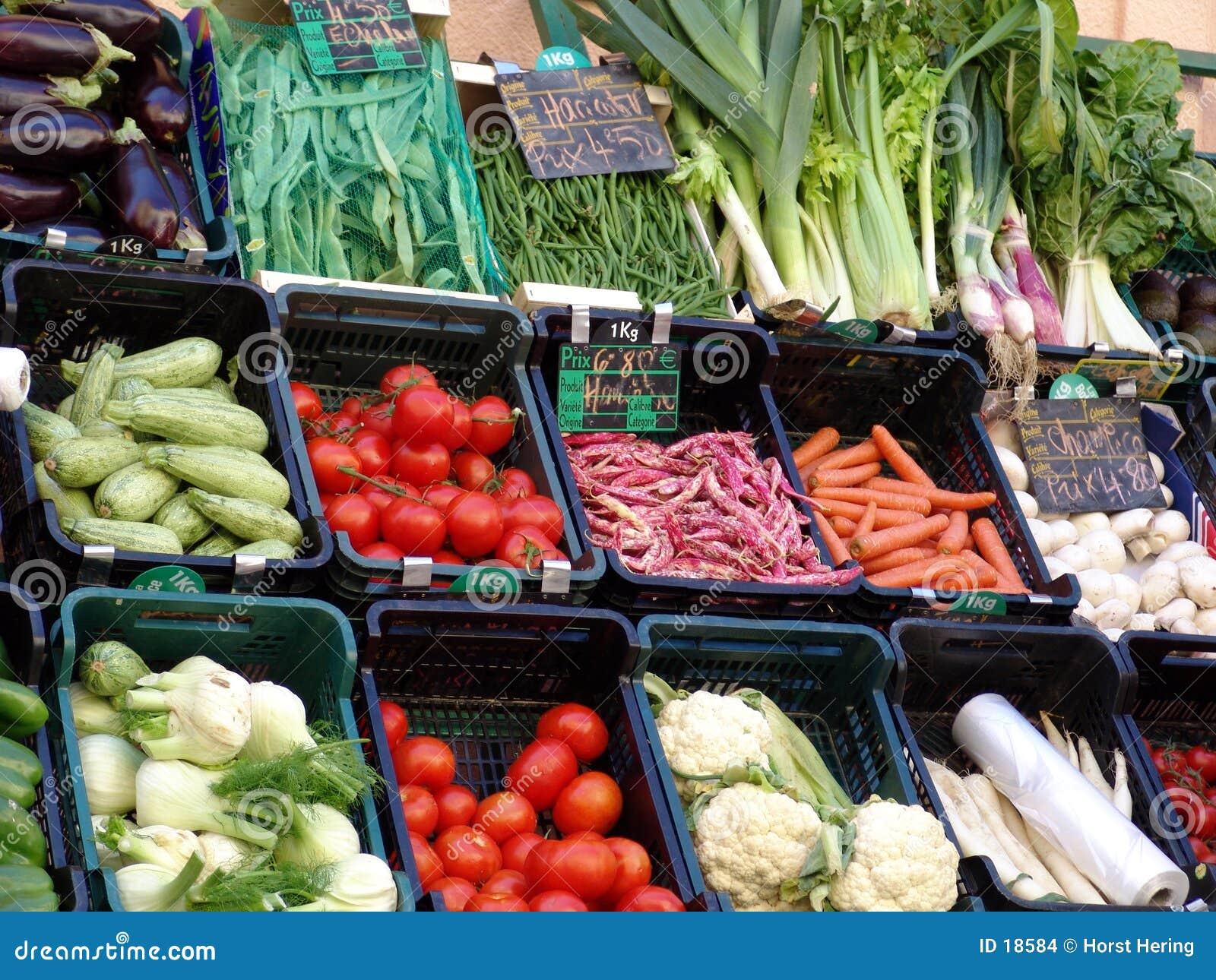 In de markt
