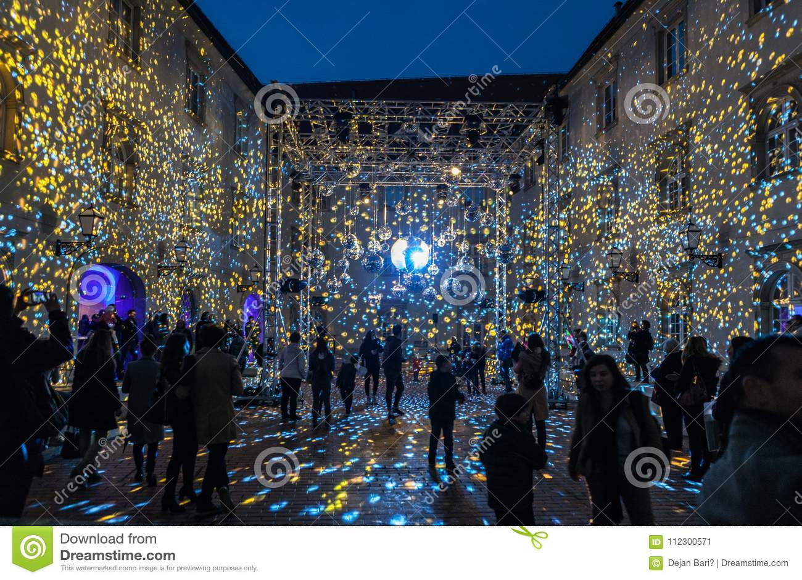 """16de markt 2018 Festival van Zagreb, Kroatië †het """"van licht in Zagreb"""