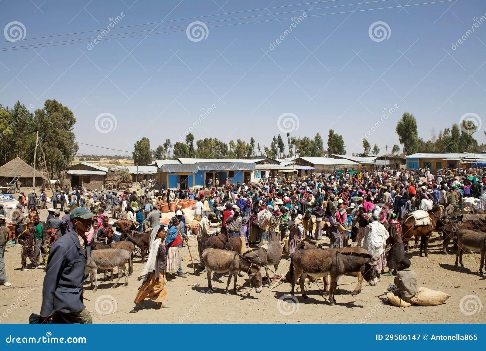 De markt van Afrika
