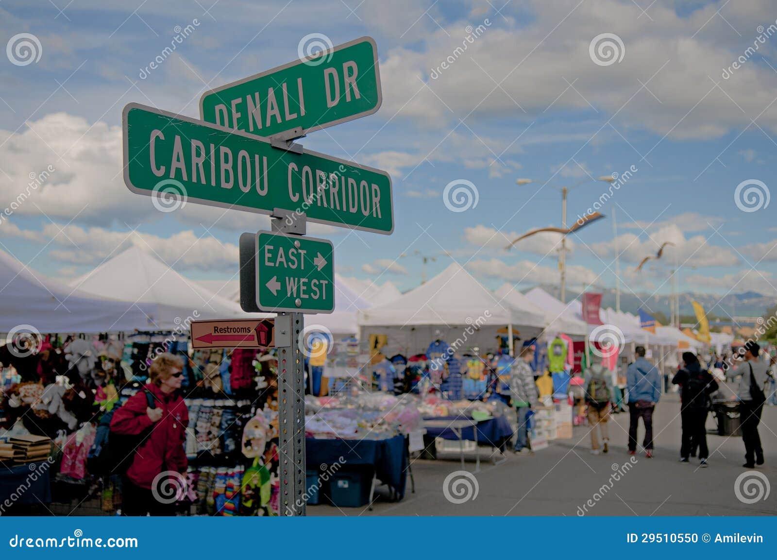 De markt van Anchorage
