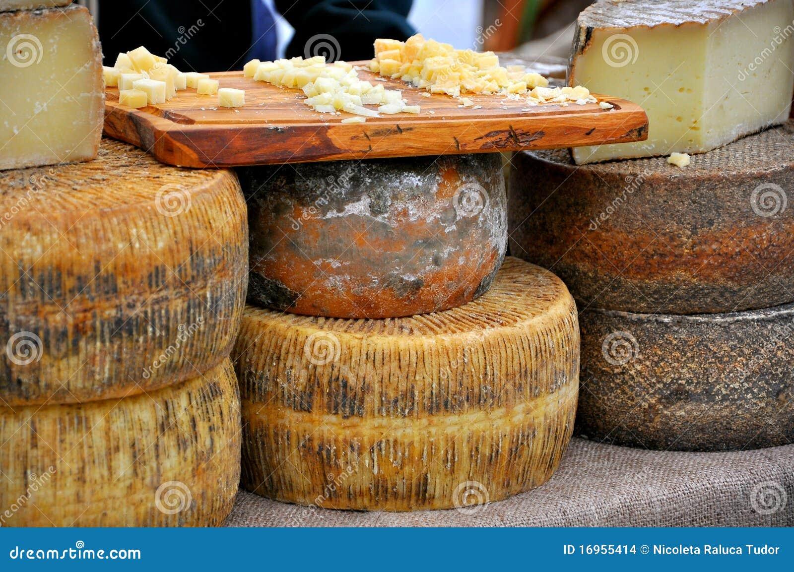 De markt van de kaas