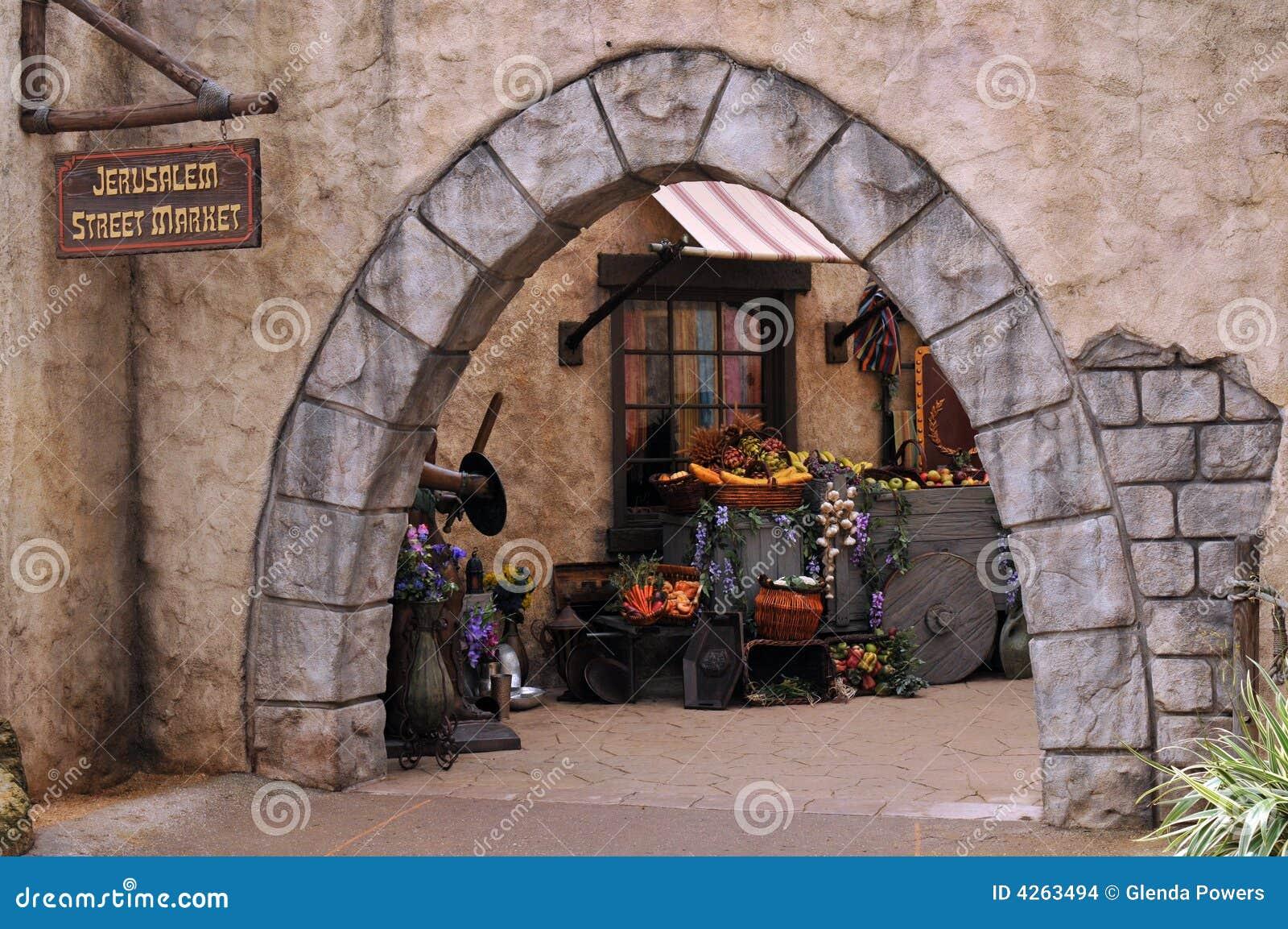 De Markt van de Straat van Jeruzalem
