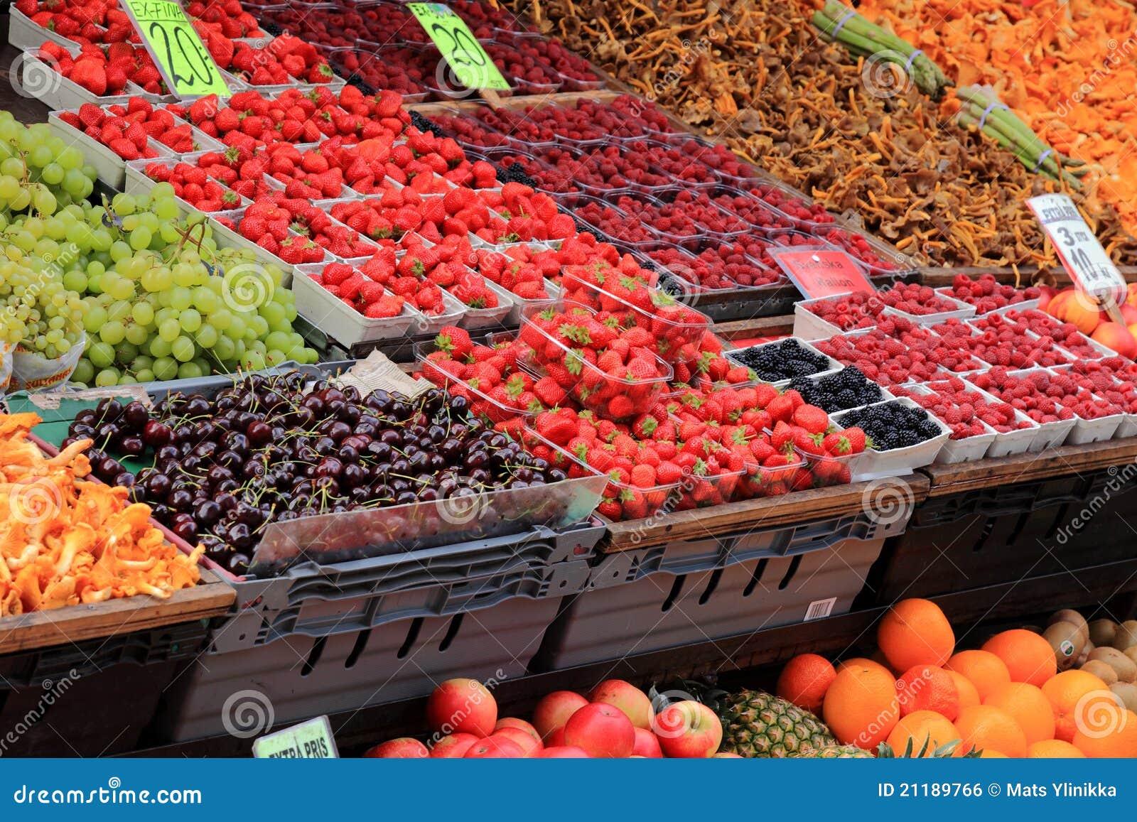 De markt van het voedsel