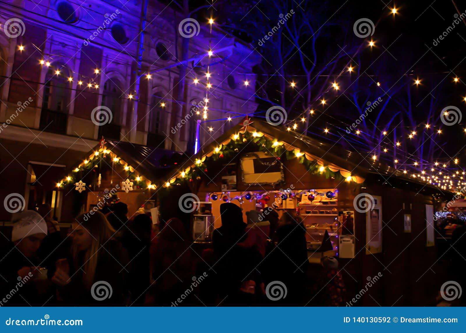 De Markt van Kerstmis Grote foto