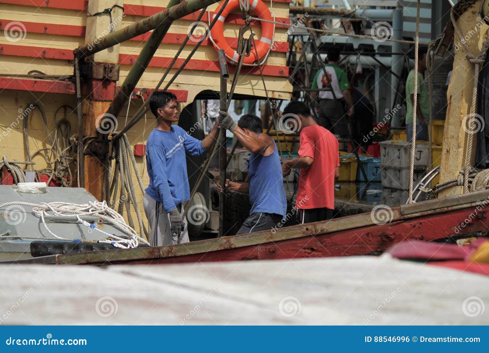 De markt van vissen in Hongkong