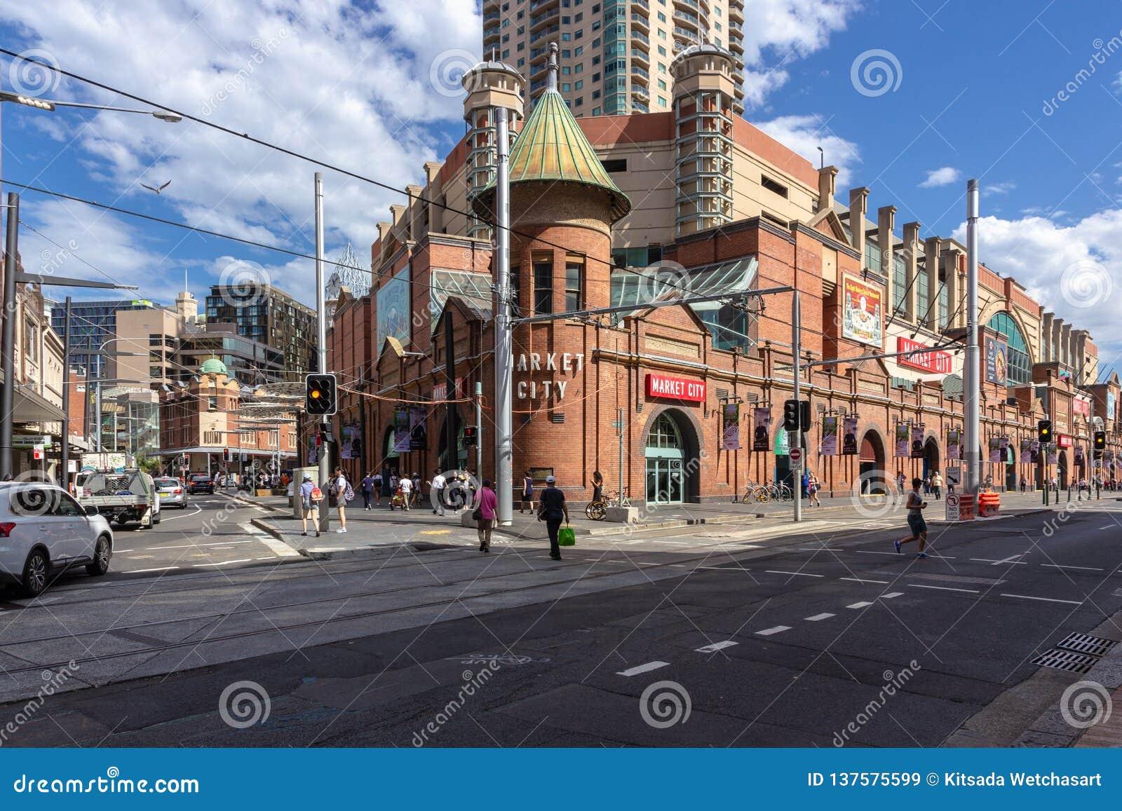 De Markten van de Padie van Sydney Het is een commerciële onderneming in Sydney, Australië: 13/04/2018