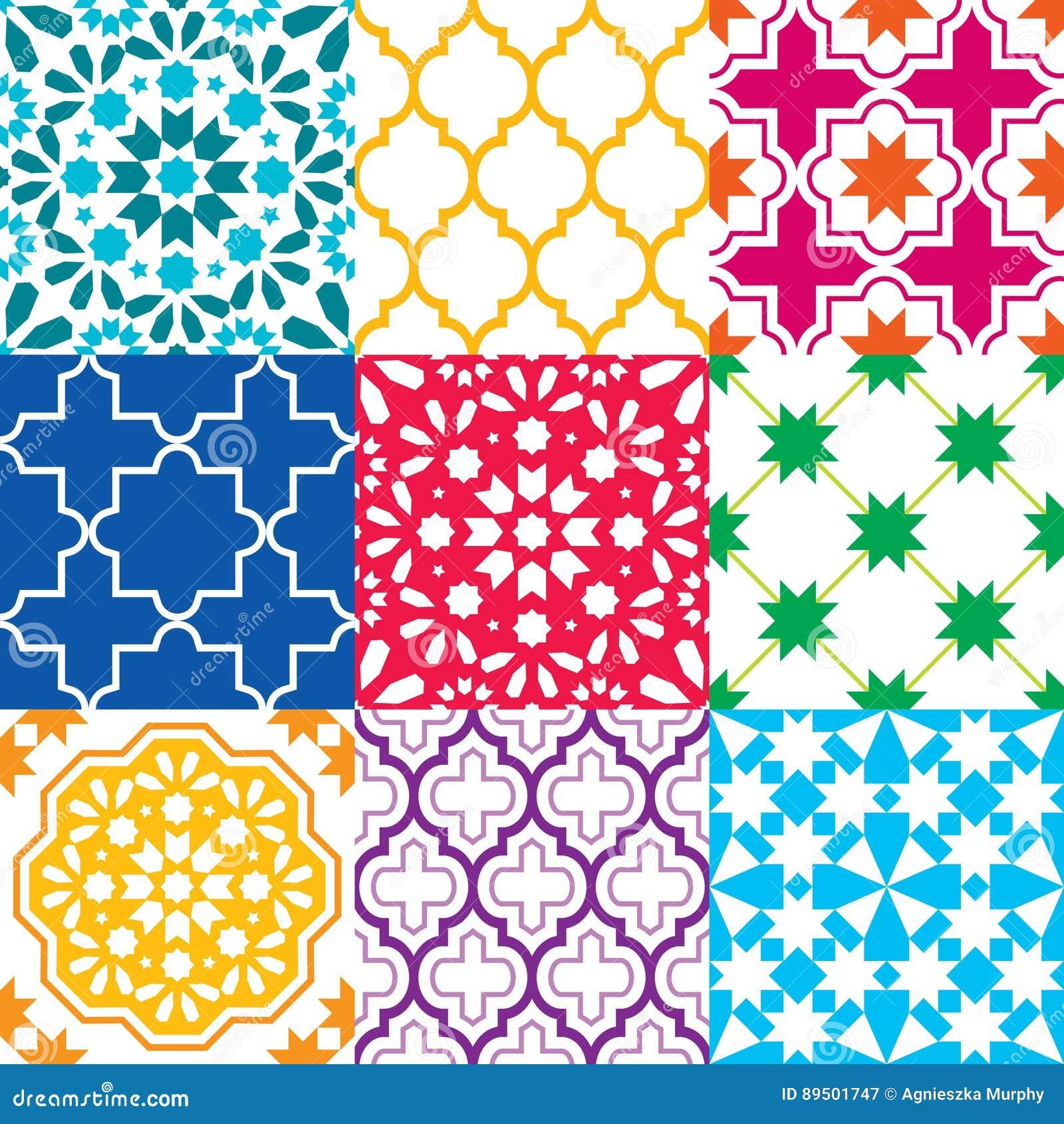 Beste De Marokkaanse Tegels Ontwerpen, Naadloze Geometrische UG-37