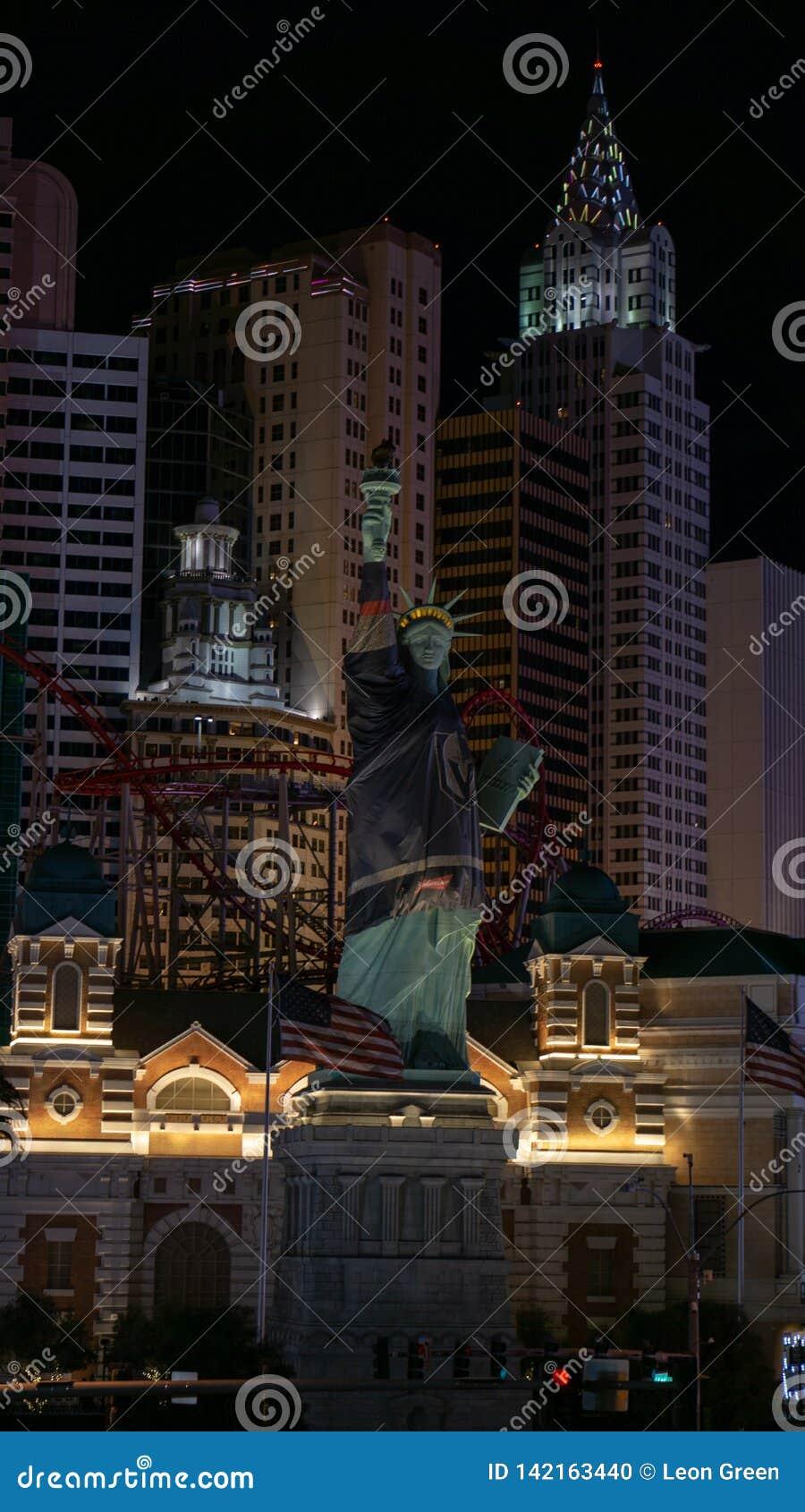 3 de marzo de 2019 - Las Vegas, Nevada - Nueva York, centro turístico de Nueva York y casino