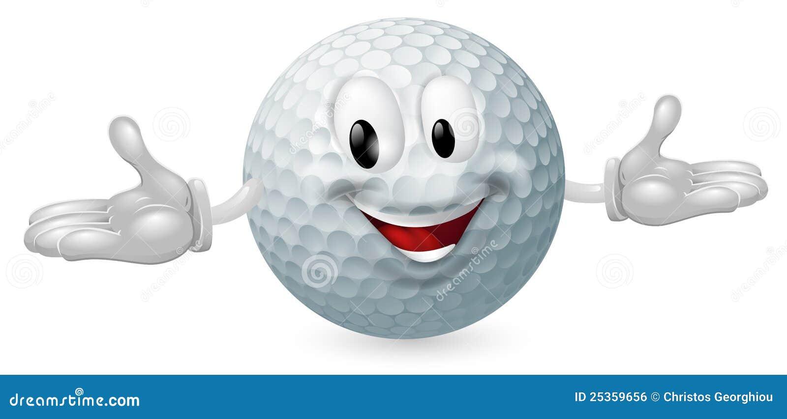 De Mascotte van de golfbal