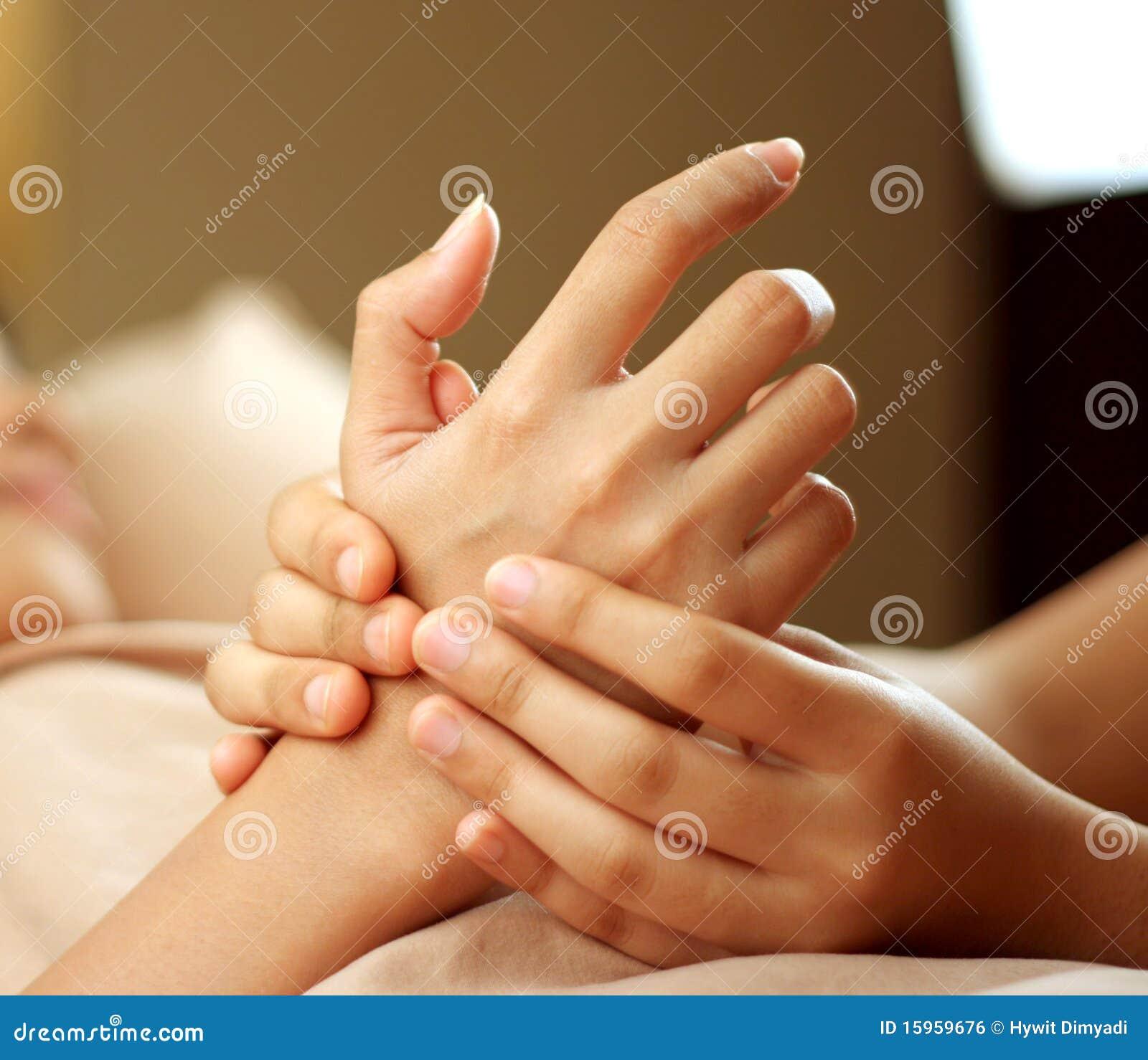De massage van de hand