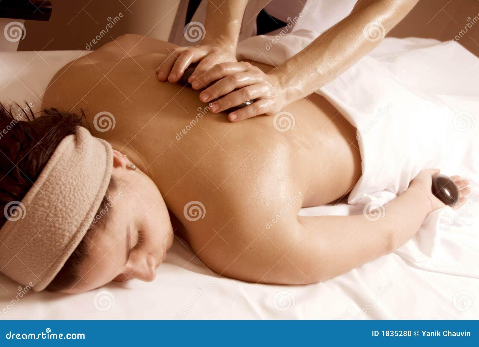 De massage van de steen
