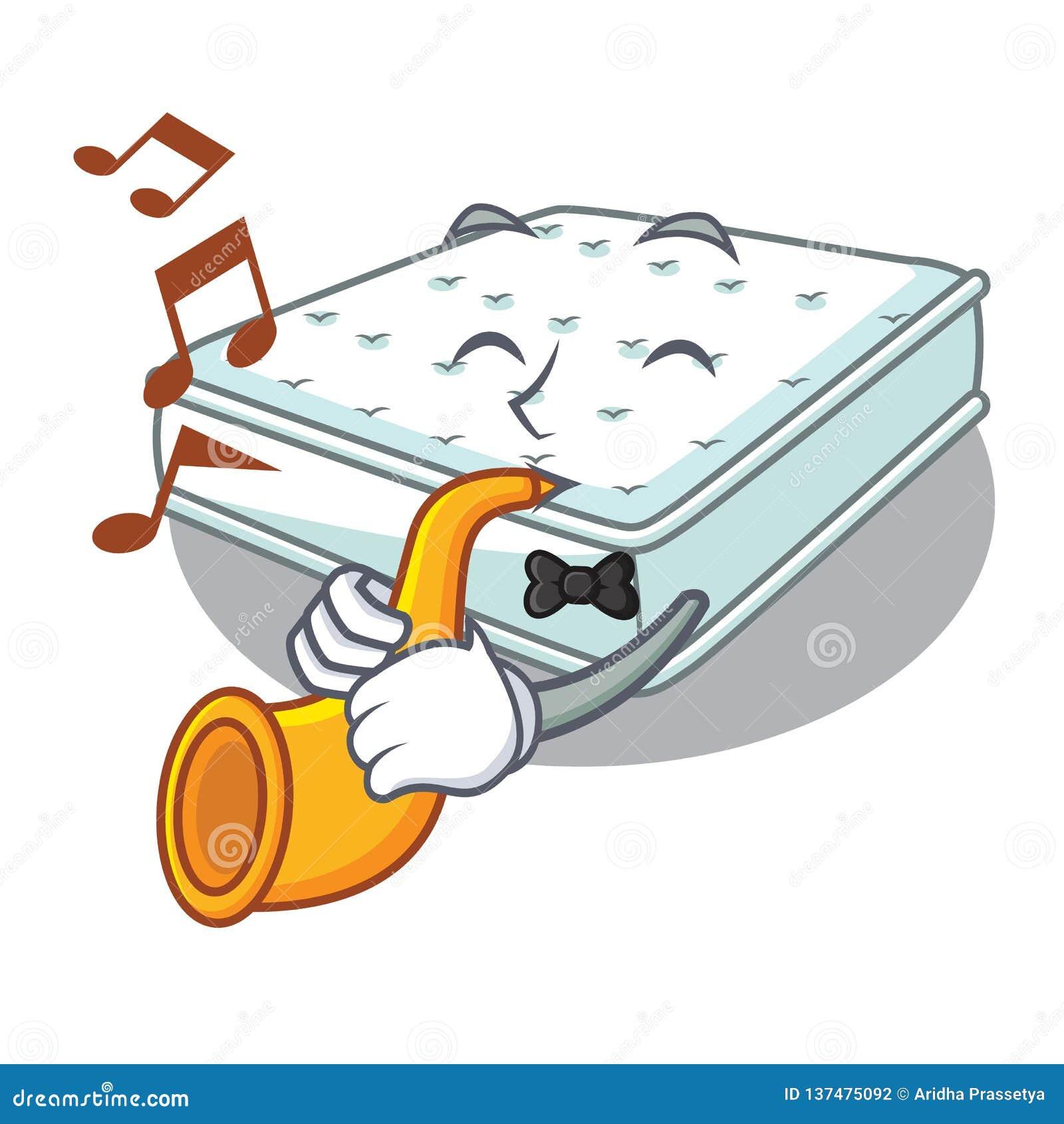 De matelas de bande dessinée de trompette étant fait pour dormir