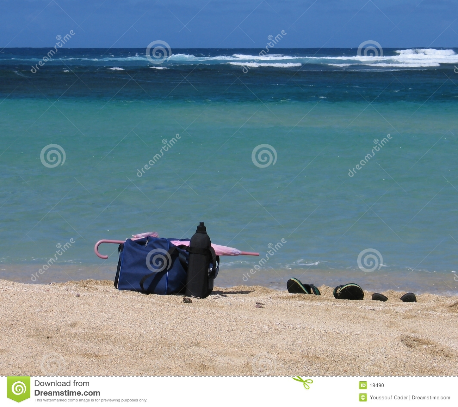 De Materialen van het strand
