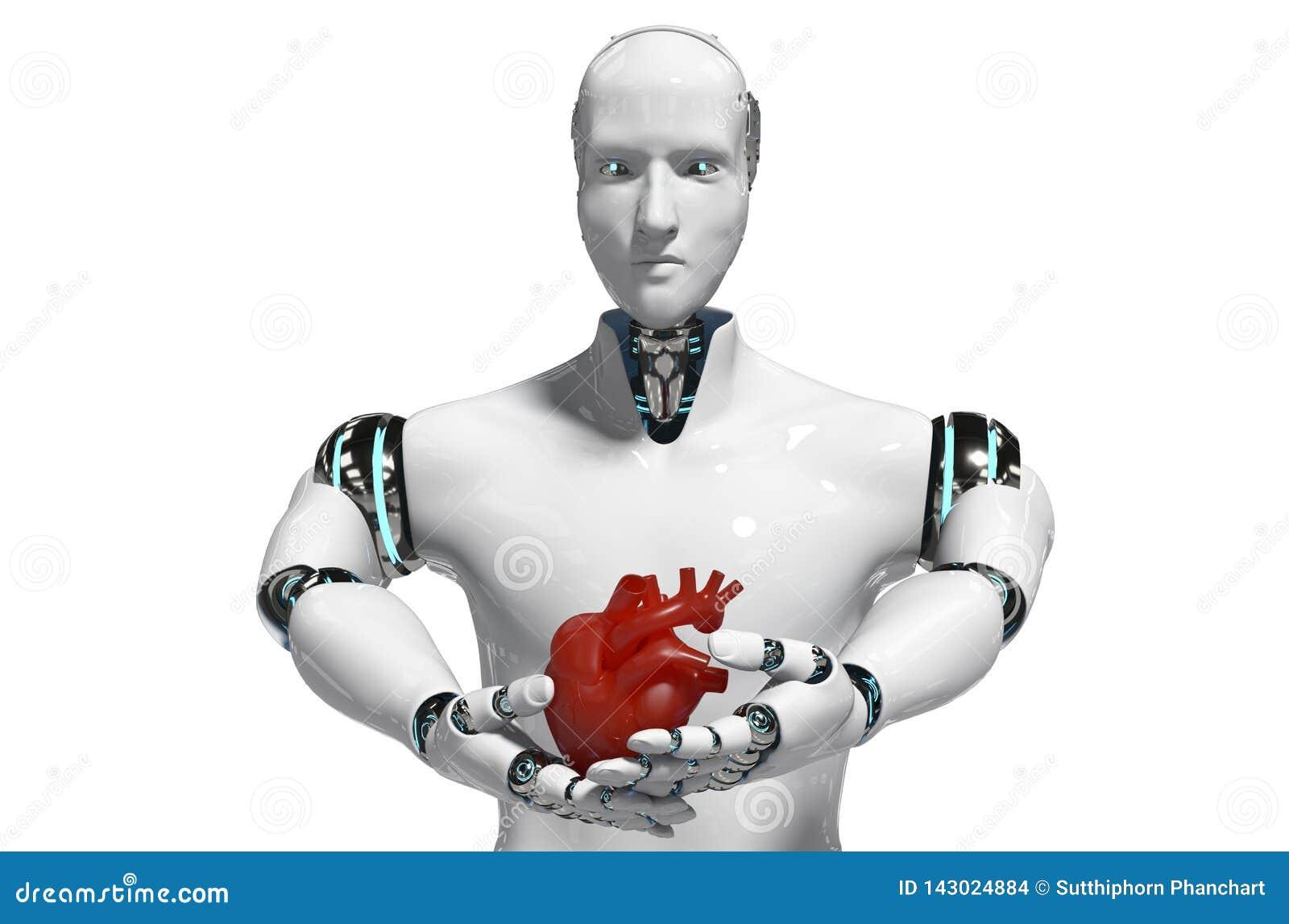 De medische robot van het robotconcept voor gebruiks het Medische witte 3D teruggeven als achtergrond - Illustratie