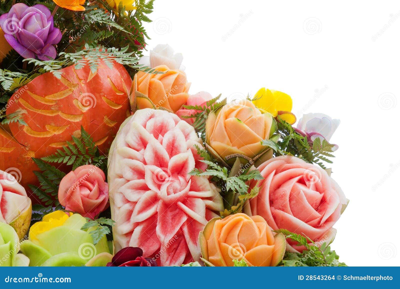 De meloen snijdende decoratie van de pompoen stock foto afbeelding 28543264 - Decoratie van de villas ...