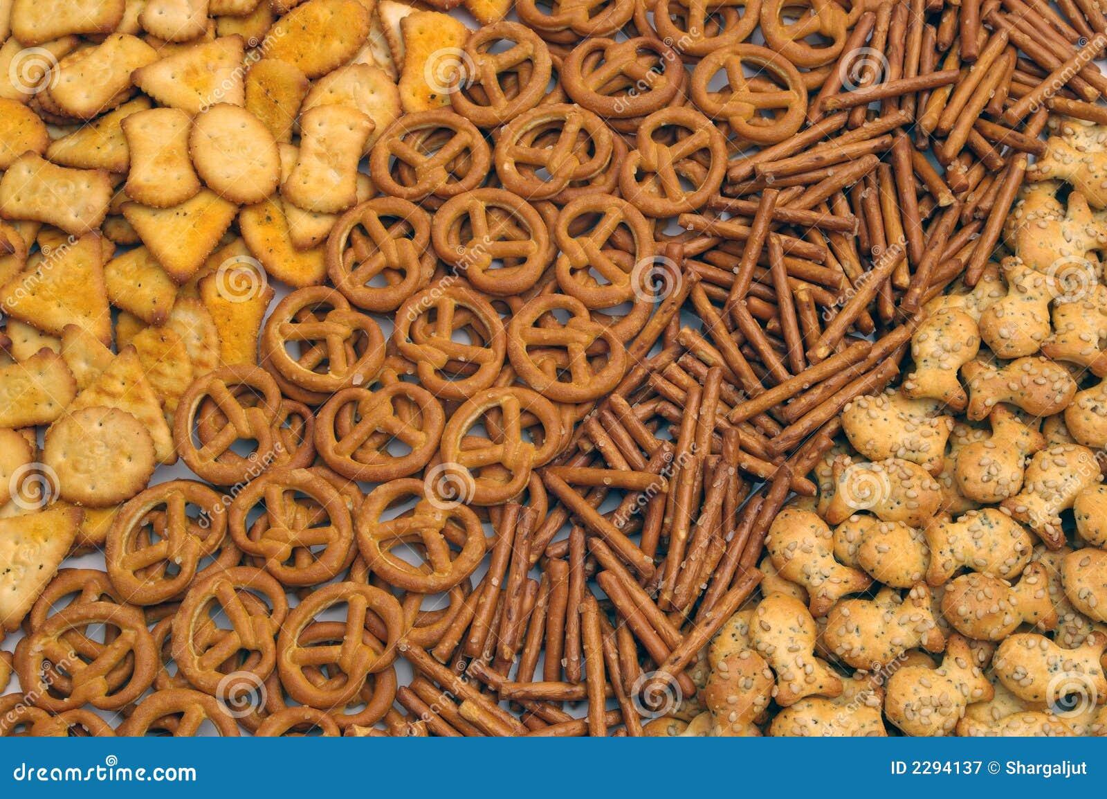 De mengeling van snacks