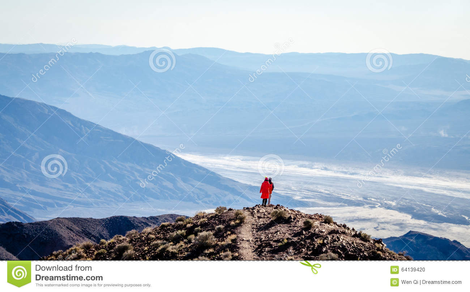 De mening van Dante in het Nationale Park van de Doodsvallei