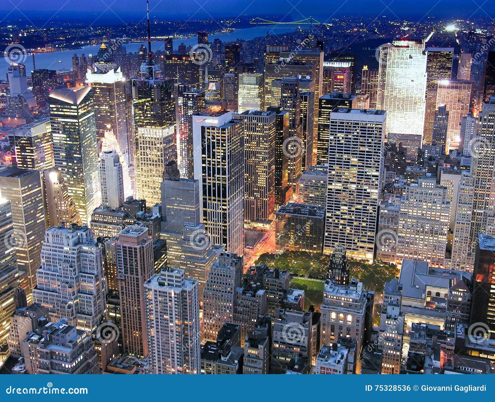 De Mening van de nacht van de Stad van New York