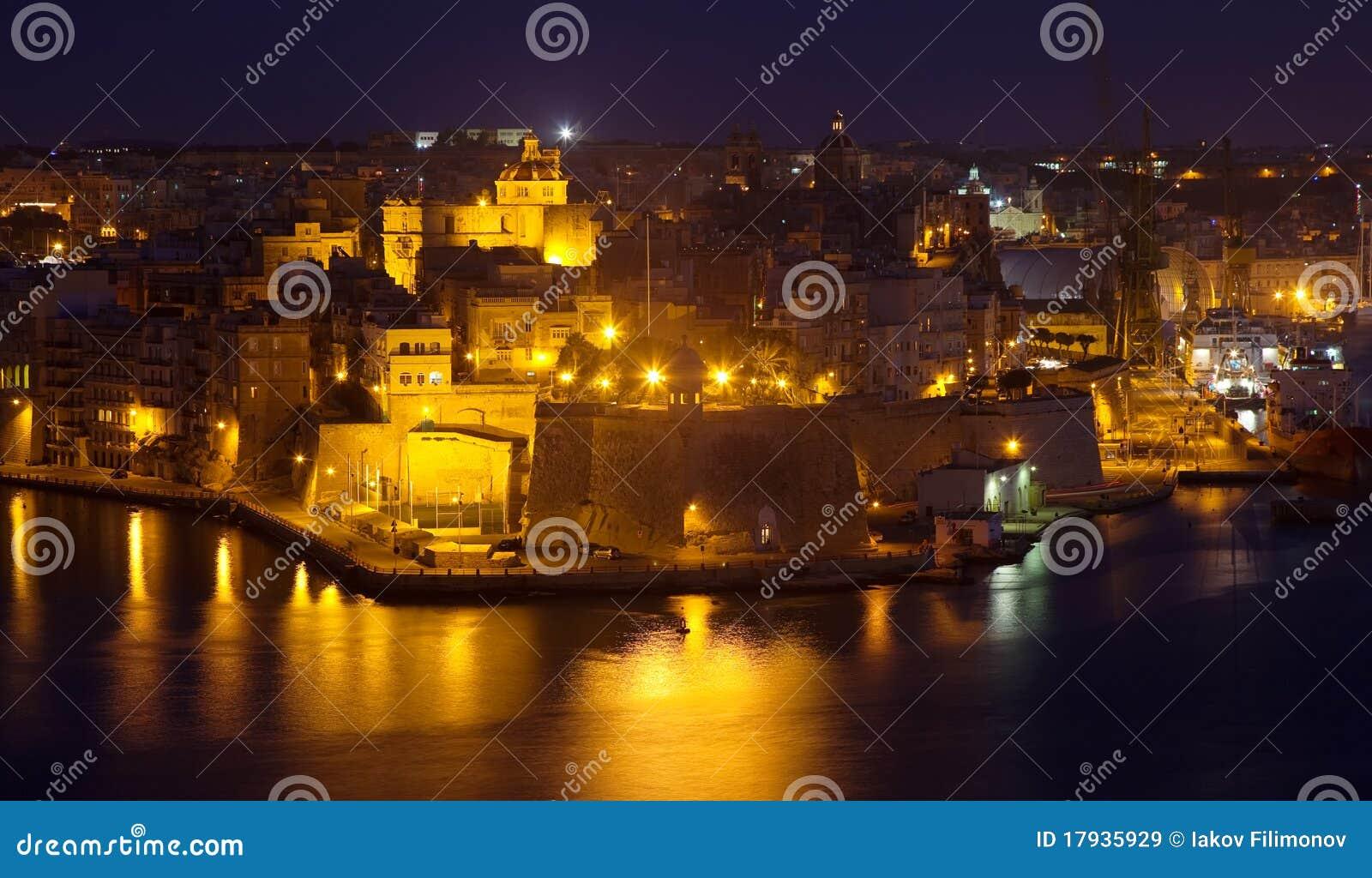 De mening van de nacht van Senglea van Valletta