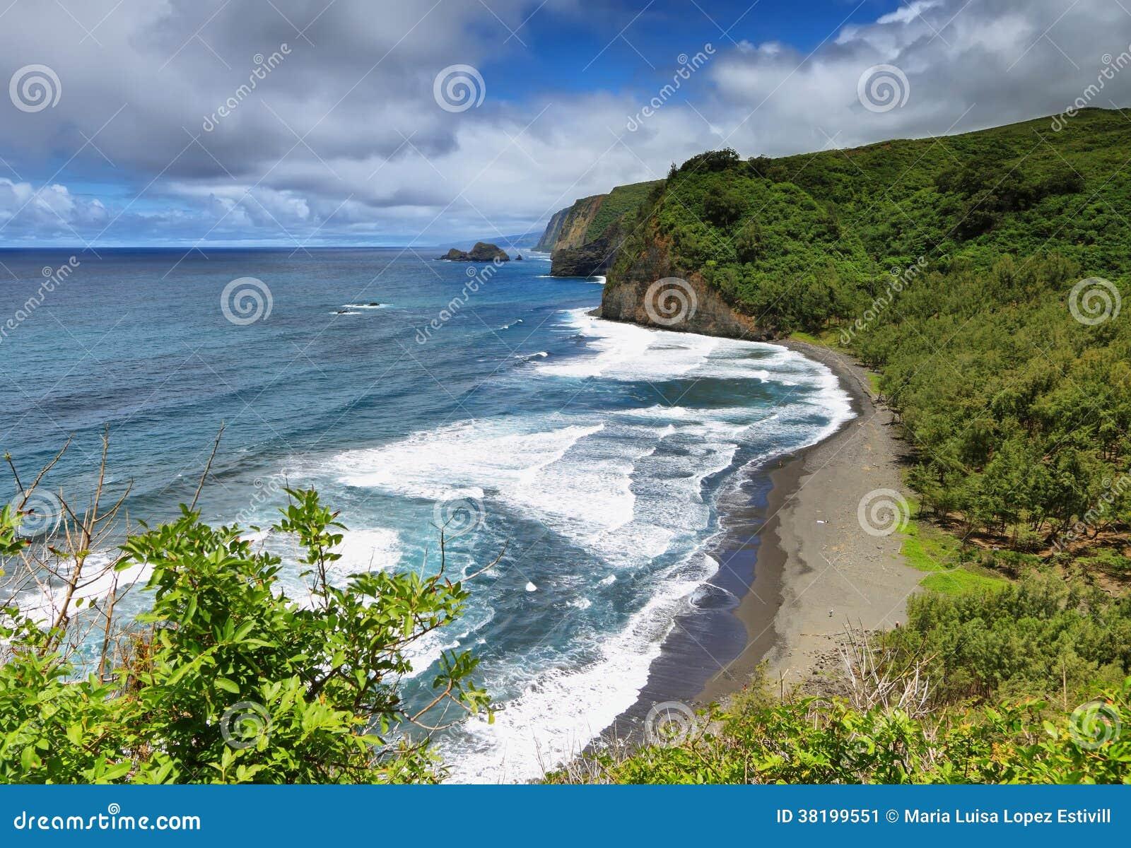De mening van de Pololuvallei in Groot eiland