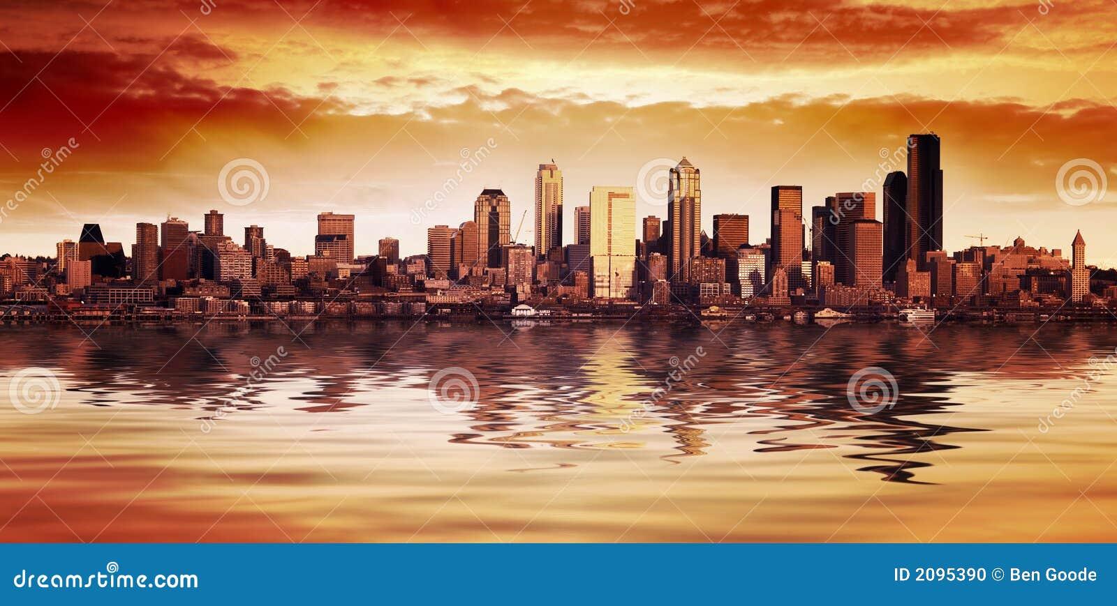 De Mening van de Zonsondergang van Seattle