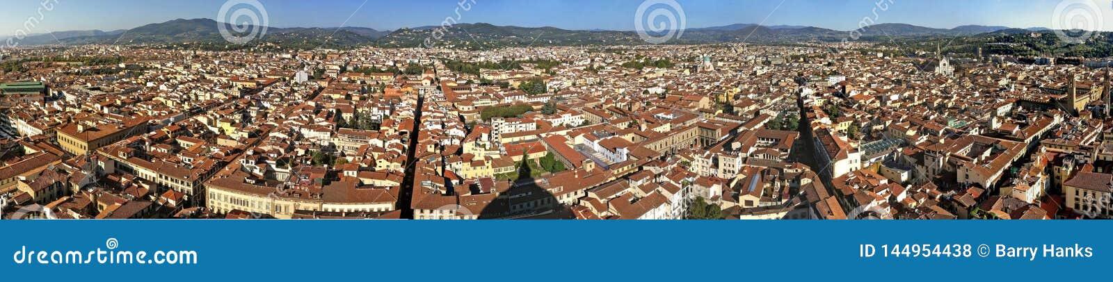 De mening van Florence vanaf de bovenkant van Duomo