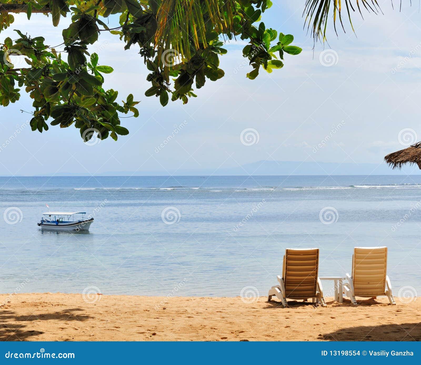 De mening van het strand
