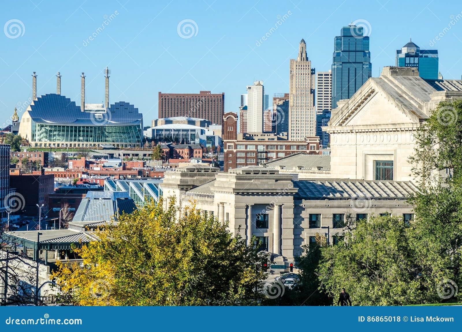 De Mening van Kansas City van de stad in