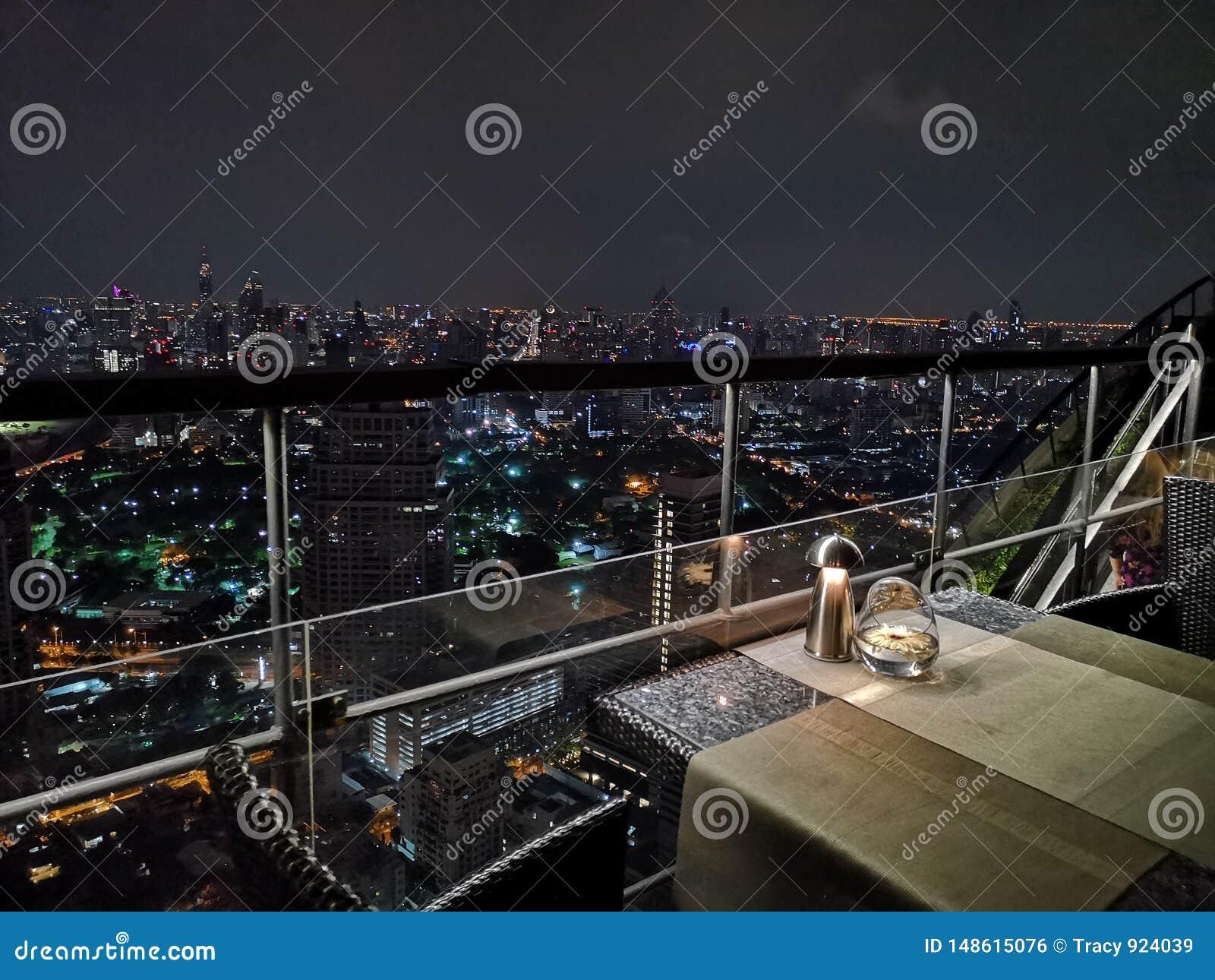 De mening van de nacht in Bangkok