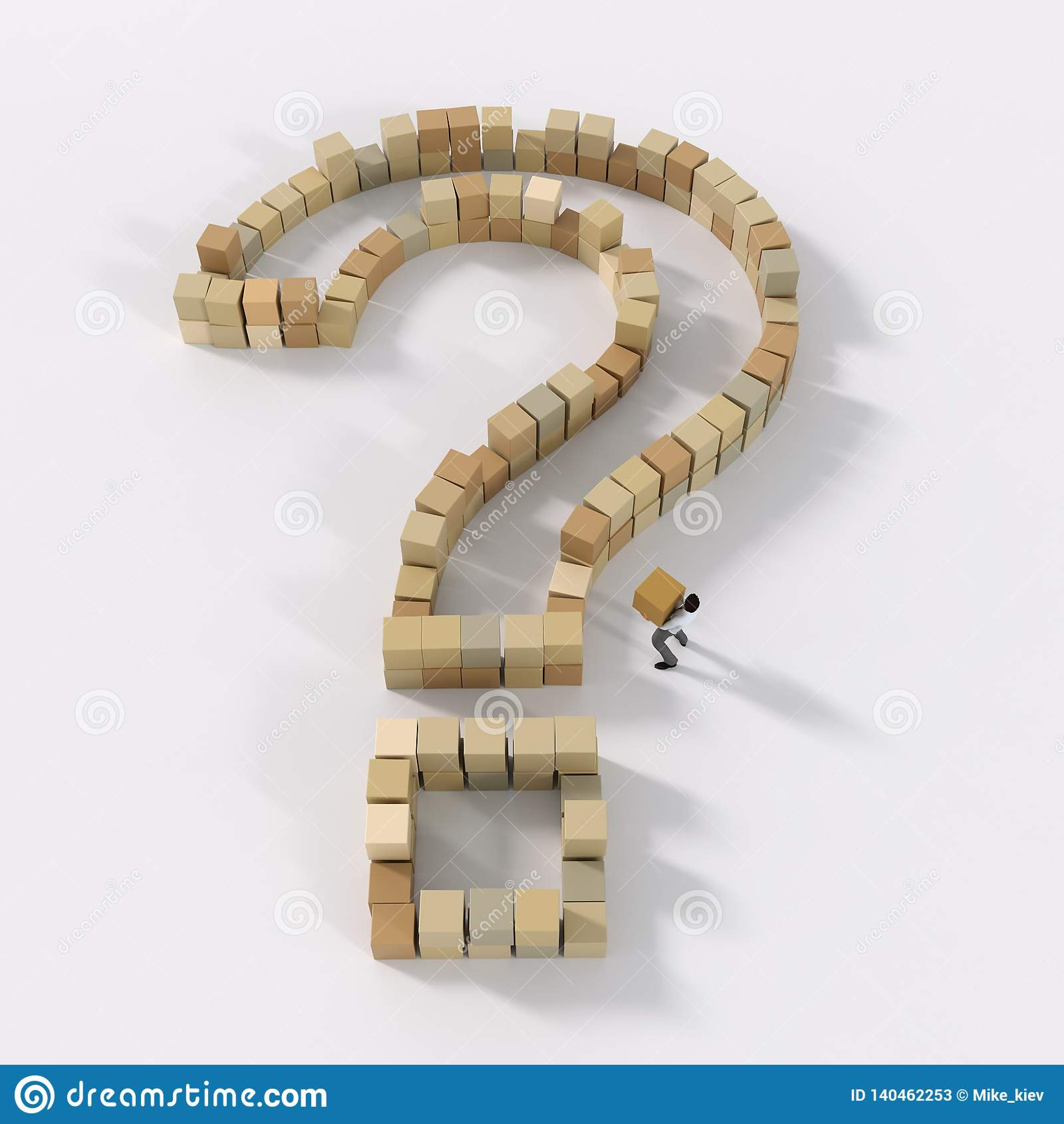 De mens bouwt of ontleedt vraagteken