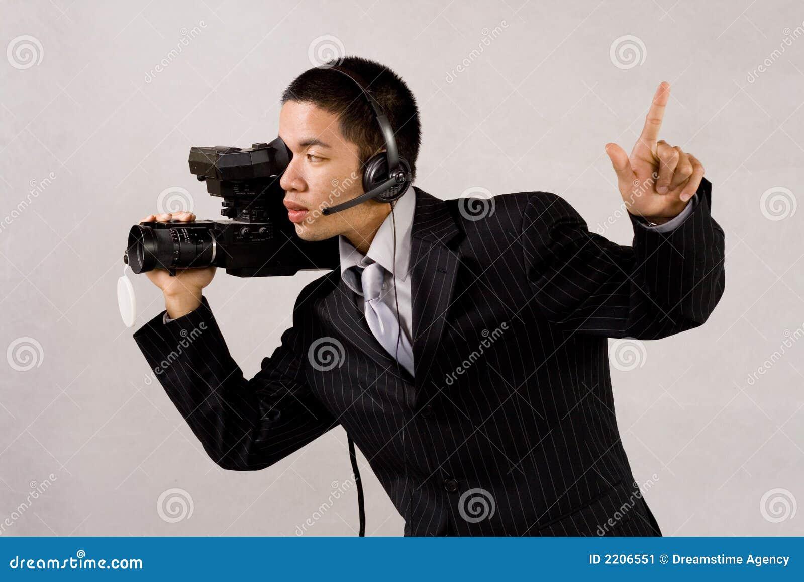 De mens van de camera