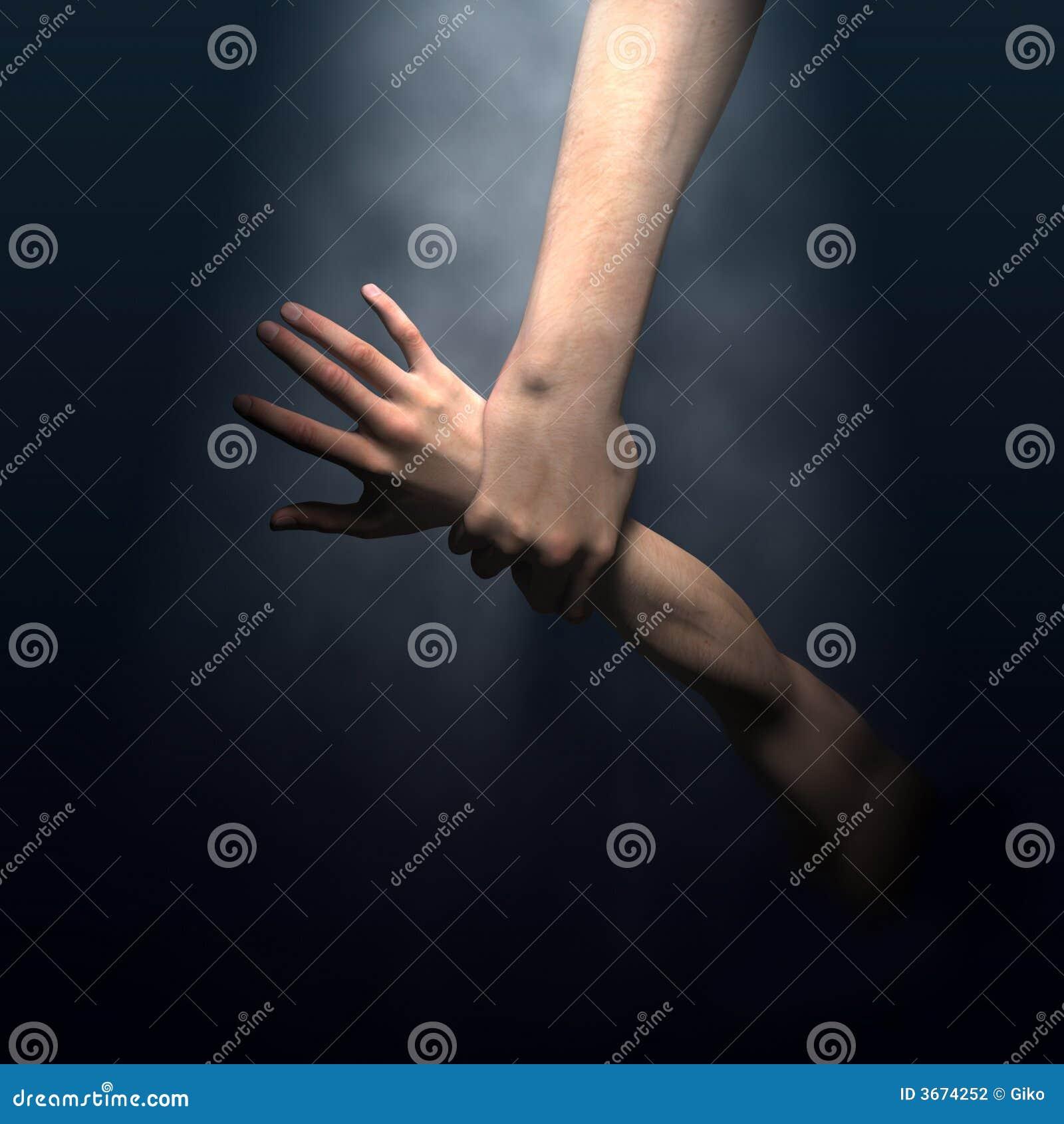 De mens van de de handbesparing van de god